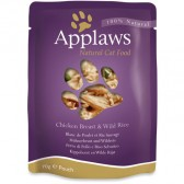 Applaws poche chat poulet et riz sauvage